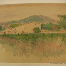 Arte: ACUARELA SOBRE PAPEL FIRMADA W.B 1932 NEAR TOULON. Lote 52911100