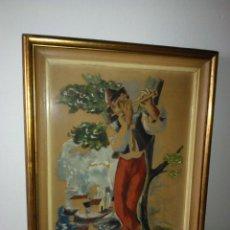 Arte: MAGNIFICA ACUARELA FLAUTISTA DE JULI RAMIS AÑO 1957 2.500,00 €. Lote 52966004
