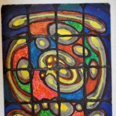 Arte: FRANCISCO CAMPS RIBERA (1895 - 1991) TECNICA MIXTA SOBRE PAPEL DEL AÑO 85. COMPOSICION ABSTRACTA. Lote 53056794