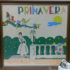 Arte: PRIMAVERA.- CIRCA I950-60.- BONITA IMPRESIÓN MANUAL A COLOR / PAPEL-. Lote 31272890
