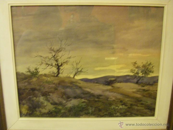 ACUARELA MIGUEL MARTINEZ VERCHILI GRUPO PONT DE FUSTA VALENCIA SIGLO XX (Arte - Acuarelas - Contemporáneas siglo XX)
