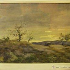 Arte: ACUARELA MIGUEL MARTINEZ VERCHILI GRUPO PONT DE FUSTA VALENCIA SIGLO XX. Lote 53343155