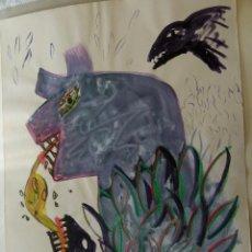 Arte: ACUARELA DE JOSEP VALLRIBERA 1983. Lote 53402342