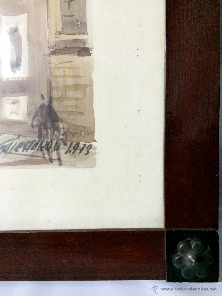 Arte: PAISAJE URBANO DE BILBAO-FIRMADO-FECHADO.MEDIDA 76cm x 54cm. - Foto 2 - 53402389
