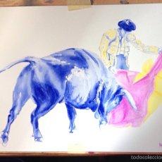 Arte: TAUROMAQUIA. ACUARELA TAURINA.. Lote 53541516