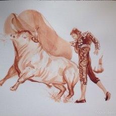 Arte: TAUROMAQUIA.ACUARELA TAURINA.. Lote 53541740