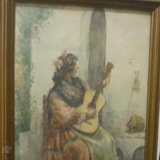 Arte: MUJER TOCANDO LA GUITARRA, POR TEÓTIMO HEREDIA Y ABAD (GRAUS, HUESCA -MADRID 1912). Lote 54067838