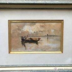 Arte: LUIGI PAOLILLO (1864-1934) PINTOR ITALIANO - ACUARELA SOBRE PAPEL. Lote 54256254