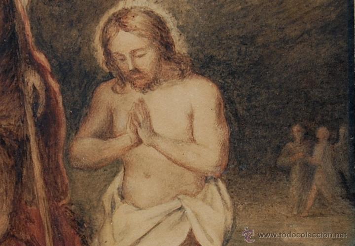 Arte: Original del siglo XVIII - Bautismo de Jesús en el Jordán - Foto 5 - 54261252