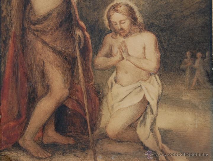 Arte: Original del siglo XVIII - Bautismo de Jesús en el Jordán - Foto 6 - 54261252