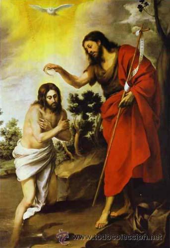 Arte: Original del siglo XVIII - Bautismo de Jesús en el Jordán - Foto 9 - 54261252