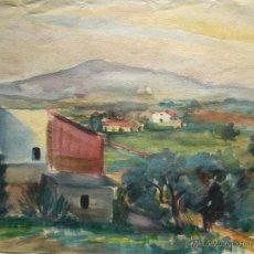 Arte: JOSE MOLING ACUARELA/PAPEL 42 X 32 CM. FIRMADA.. Lote 54431711