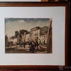 Arte: ACUARELA VIDA RURAL JOAN COLOM I AGUSTÍ 1879 - 1964. Lote 54545619