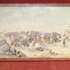 Arte: TIPOS-CAPRICHOS, POR M. MUR, 1885, ACUARELAS BÉLICAS. Lote 54698397