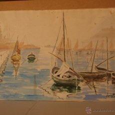 Arte: MARINA / ACUARELA 25 X 35. Lote 54743660