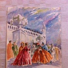 Arte: ACUARELA ORIGINAL 1975 FIRMADO - ANDREU RAGINEL FERRET - 28X38 CMTS. Lote 54744932