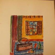 Arte: ACUARELA DE ERNEST IBAÑEZ NEACH / LLEIDA 1920 - 2011. Lote 54765149