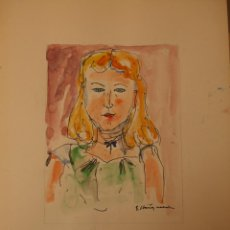 Arte: ACUARELA DE ERNEST IBAÑEZ NEACH / LLEIDA 1920 - 2011. Lote 54766012