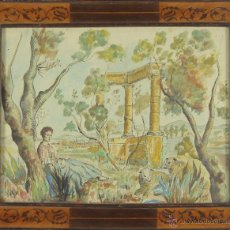 Arte: D1-008. PASTORA. TECNICA MIXTA. TINTA Y ACUARELA. FIRMADO MORAL. 1941.. Lote 52997981