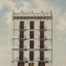 Arte: GR-073. VISTA ALZADA DE EDIFICIO. ACUARELA SOBRE PAPEL. SAGARRA VIÑALS. 1886.. Lote 53561370