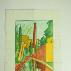 Arte: SANT MARTÍ. ACUARELA SOBRE CARTULINA. JOAN SANDALINAS. ESPAÑA. 1903-1991.. Lote 47285616