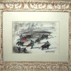 Art: A1-009 - TAUROMAQUIA. ACUARELA / PAPEL. RAFAEL DURANCAMPS. ESPAÑA. 1891-1979. Lote 47430418