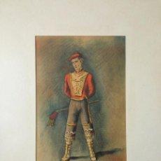 Arte: RETRATO EN ACUARELA ORIGINAL, FIRMADO Y FECHADO 1945, ESCUELA VASCA, ZUBEROA. Lote 54841769