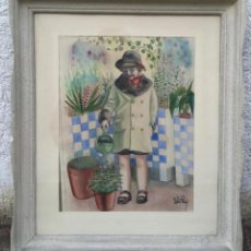 Arte: FIRMADO DEL REY , BONITA ACUARELA ENMARCADA. Lote 54934143