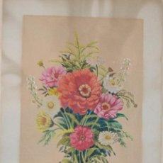 Arte: 1945 - PRECIOSA ACUARELA - FLORES - FIRMADA Y DATADA. Lote 55002930