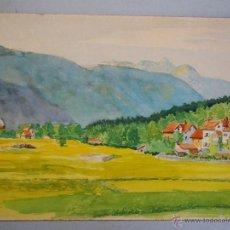 Arte: 1925 - ACUARELA DE PARTENKIRCHEN - FIRMADA Y DATADA. Lote 55003880