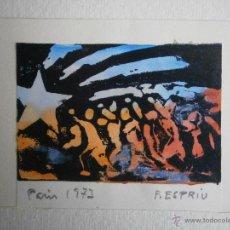 Art: CUADRO FIRMADO POR F. ESPRIU. PARÍS 1973. ESTELADA.. Lote 55053302
