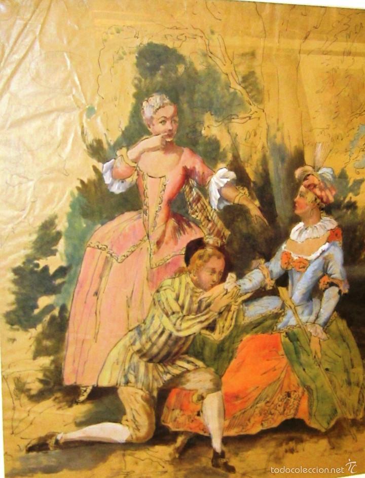 Arte: IDEAL SASTRE, SASTRERIA, TIENDA DE ROPA, SENSACIONAL OBRA HISTORICA LOUIS RENE BOQUET 1717-1818 - Foto 2 - 55096740