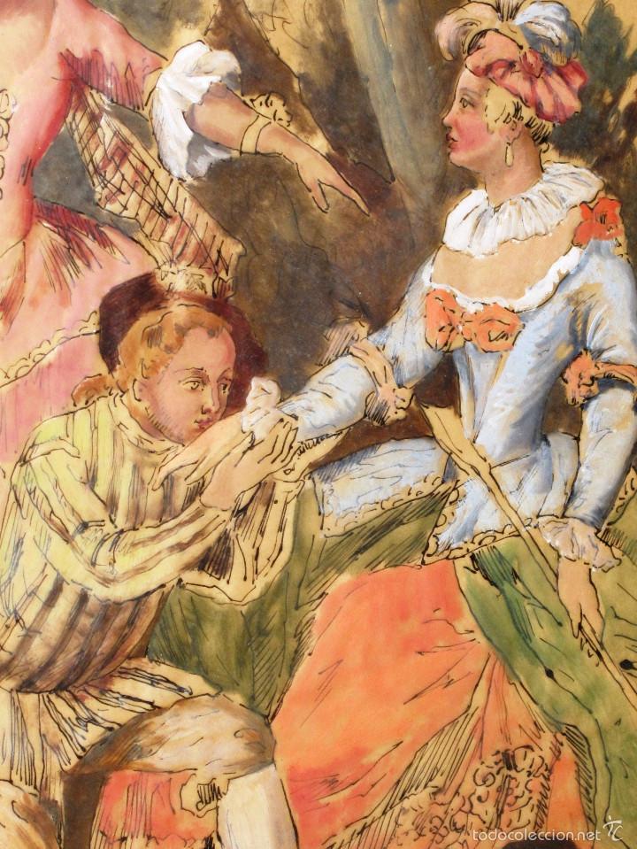 Arte: IDEAL SASTRE, SASTRERIA, TIENDA DE ROPA, SENSACIONAL OBRA HISTORICA LOUIS RENE BOQUET 1717-1818 - Foto 3 - 55096740