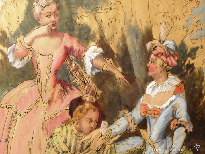 Arte: IDEAL SASTRE, SASTRERIA, TIENDA DE ROPA, SENSACIONAL OBRA HISTORICA LOUIS RENE BOQUET 1717-1818 - Foto 5 - 55096740