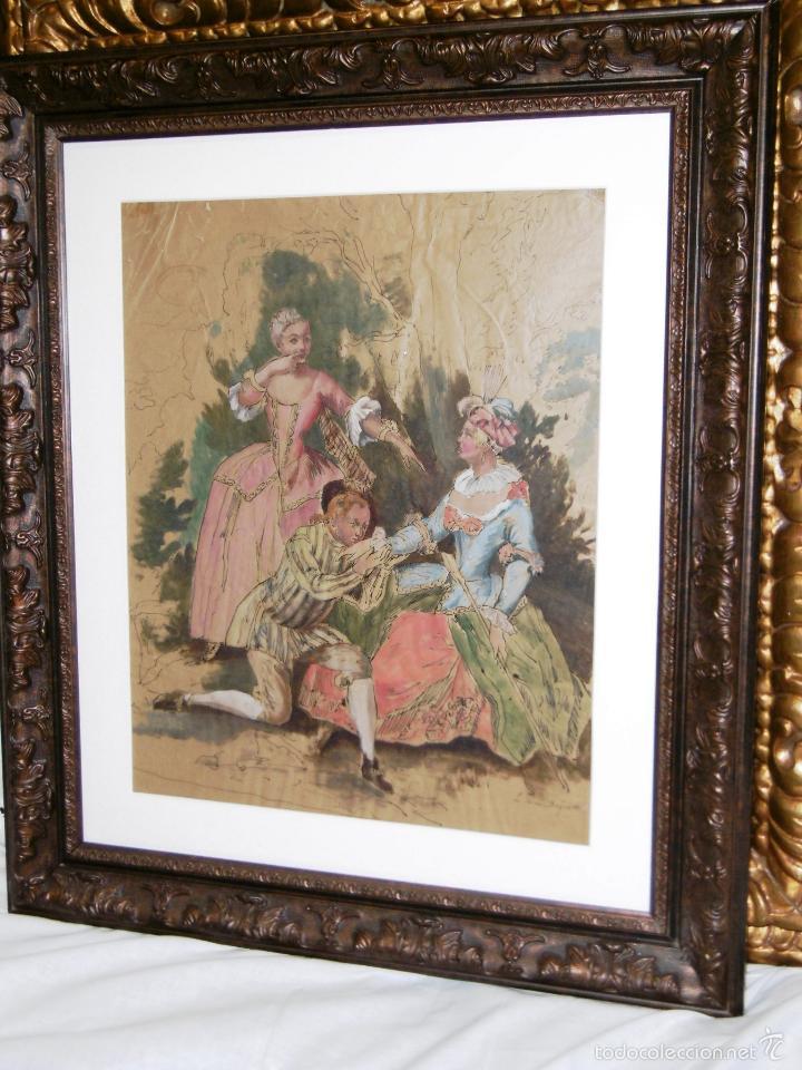 Arte: IDEAL SASTRE, SASTRERIA, TIENDA DE ROPA, SENSACIONAL OBRA HISTORICA LOUIS RENE BOQUET 1717-1818 - Foto 7 - 55096740