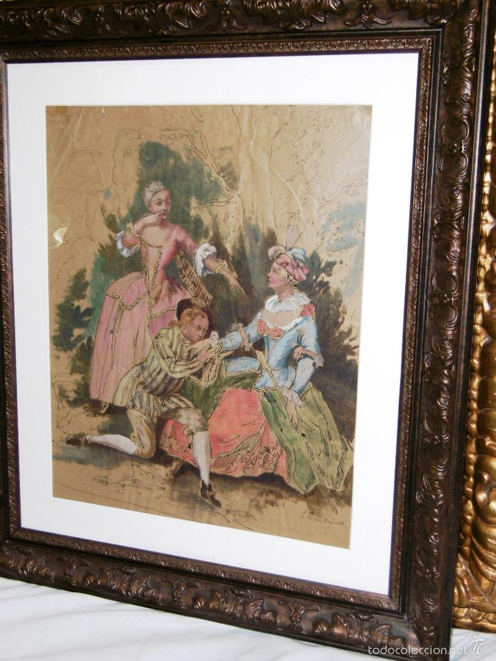 Arte: IDEAL SASTRE, SASTRERIA, TIENDA DE ROPA, SENSACIONAL OBRA HISTORICA LOUIS RENE BOQUET 1717-1818 - Foto 10 - 55096740