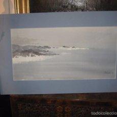 Arte: MARINA PRECIOSA ACUARELA SOBRE PAPEL FIRMADA Y FECHADA ANDRE 95 PASPARTOUT 62 X 38 CM.. Lote 55568729