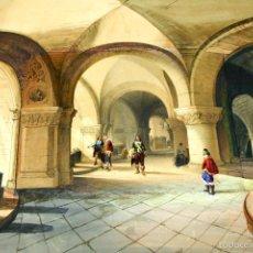 Arte: COMPOSICIÓN CON GRABADO ANTIGUO ENRIQUECIDO. CON ACUARELA Y GOUACHE. ESPAÑA. XIX. Lote 55825178