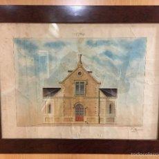 Arte: ACUARELA 1902 FIRMADA F. MASAVEU. Lote 55826128