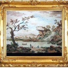 Art: S.XVIII XIX GRAN ACUARELA COSTUMBRISTA. Lote 38135023
