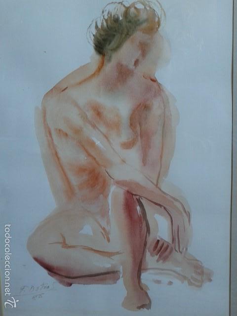Arte: FRANCISCO DOTRAS (?, CORUÑA, 2014) PINTOR GALLEGO, ACUARELA (45 x 31 cm) - Foto 2 - 55925431