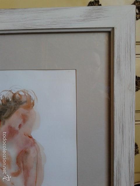 Arte: FRANCISCO DOTRAS (?, CORUÑA, 2014) PINTOR GALLEGO, ACUARELA (45 x 31 cm) - Foto 4 - 55925431