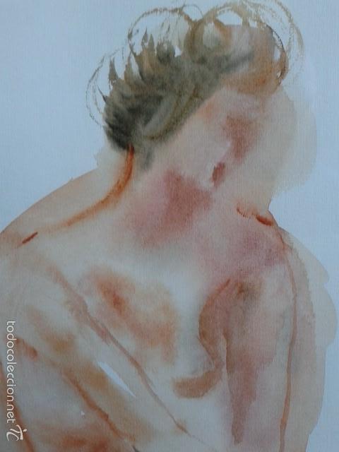 Arte: FRANCISCO DOTRAS (?, CORUÑA, 2014) PINTOR GALLEGO, ACUARELA (45 x 31 cm) - Foto 6 - 55925431