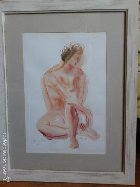 Arte: FRANCISCO DOTRAS (?, CORUÑA, 2014) PINTOR GALLEGO, ACUARELA (45 x 31 cm) - Foto 7 - 55925431