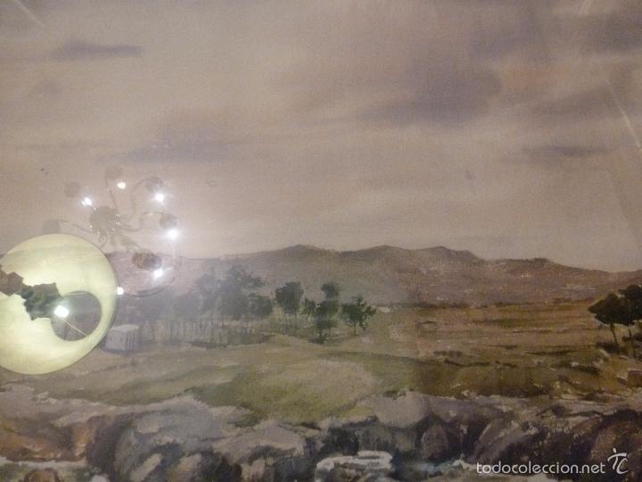 Arte: acuarela paisaje Acuarela.Marina.Fdo:J.Ribot Llupia.Año 1957. - Foto 3 - 55952501