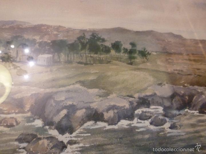 Arte: acuarela paisaje Acuarela.Marina.Fdo:J.Ribot Llupia.Año 1957. - Foto 11 - 55952501