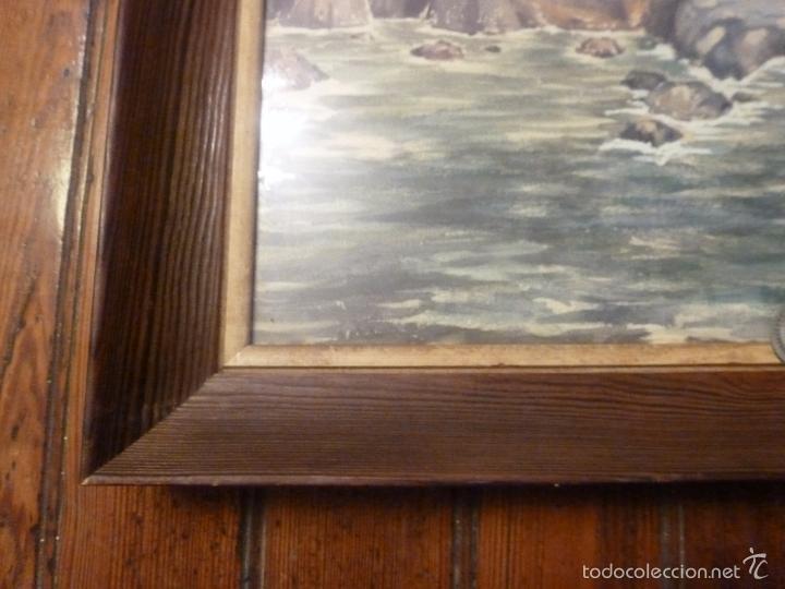 Arte: acuarela paisaje Acuarela.Marina.Fdo:J.Ribot Llupia.Año 1957. - Foto 13 - 55952501
