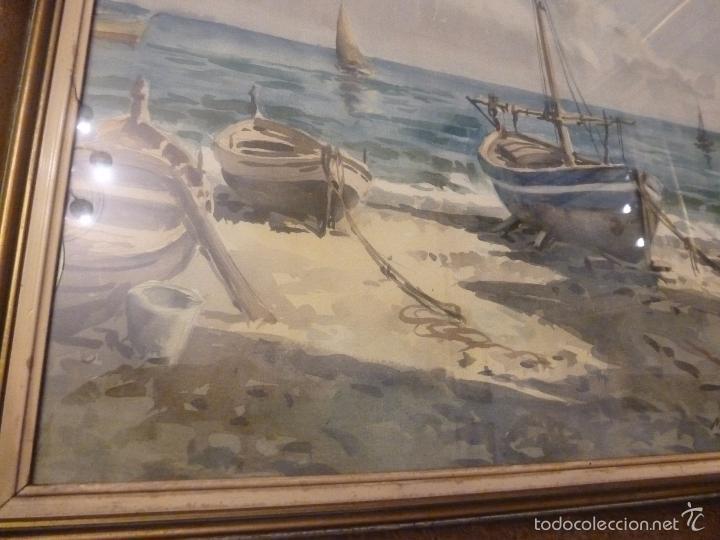 Arte: Acuarela.Marina.FdoAcuarela.Barcos.Fdo:Mariano Brunet Coll. - Foto 2 - 55952589