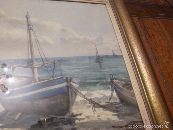 Arte: Acuarela.Marina.FdoAcuarela.Barcos.Fdo:Mariano Brunet Coll. - Foto 5 - 55952589