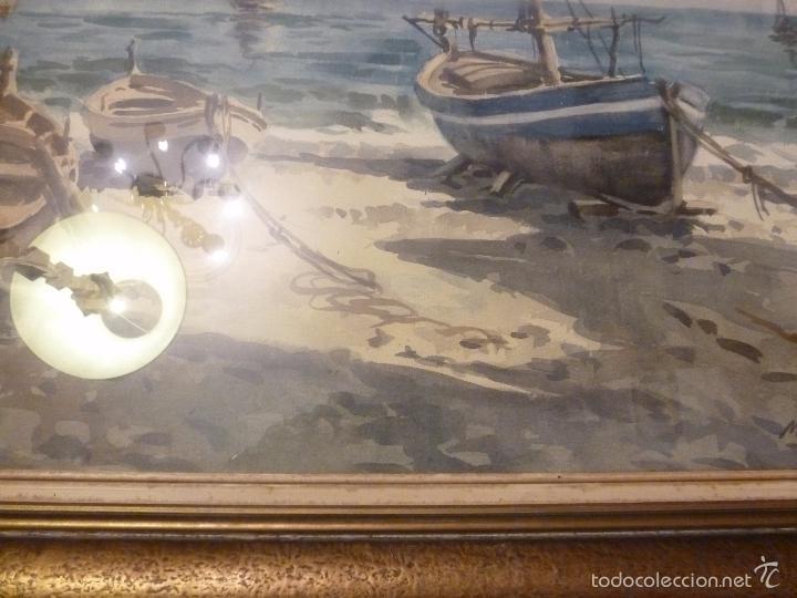 Arte: Acuarela.Marina.FdoAcuarela.Barcos.Fdo:Mariano Brunet Coll. - Foto 6 - 55952589